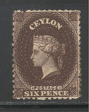 Ceylon #53b (A1) FVF MINT OG - 1863-67 6p Queen Victoria