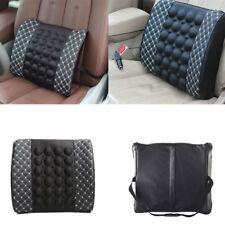 Black+white Car Electric Massage Cushion Lumbar Waist Support Seat Back Cushion