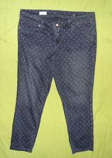 GAP ALWAYS SKINNY tacheté Foncé Denim Jeans Taille 34 32 Pantalon Polka Dot