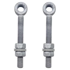 Gate Hinge Eye Bolts Adjustable Nuts & Washers Hang Gate Pin Hinge 12/16/19/22mm