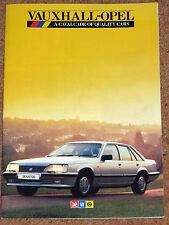 1985 VAUXHALL-OPEL Sales Brochure inc Astra & Manta GTE Nova Cavalier SRi Monza