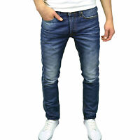 Crosshatch Mens Designer Washed Denim Regular Fit Straight Leg Jeans,  BNWT