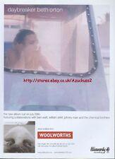 Beth Orton Daybreaker 2002 Magazine Advert #3983