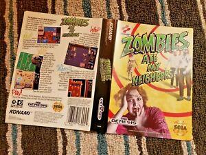 BOX ART ONLY Zombies Ate My Neighbors Original Sega Genesis Case Sleeve OEM