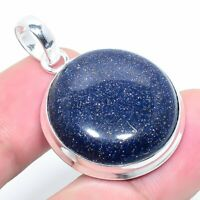 "Blue Sunstone Gemstone Handmade Ethnic Style Jewelry Pendant 1.97"" VS-198"