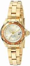 "New Invicta Watch Womens 12527 ""Pro-Diver"" 18K Gold Ion-Plated Stainless Steel"