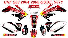 9071 HONDA CRF 250 2004 2005 Autocollants Déco Graphics Stickers Decals Kit