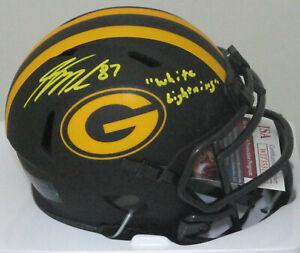 Packers JORDY NELSON Signed ECLIPSE Speed Mini Helmet AUTO w/ Script -  JSA