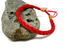 Pulsera Amuleto Roja en hilo trensado de seda - Ajustable