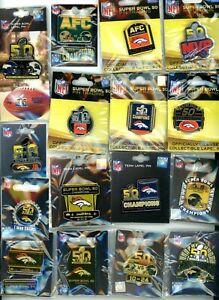 Broncos Super Bowl L Pin Choice 16 Pins Denver Champs vs Panthers 50 SF Levi's