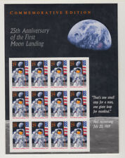 US #2841 Moon Landing 25th Anniversary 29 Cents Complete Sheet of 12 MNH