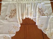 Chic Butterfly Embroidery Cutwork Cafe/Kitchen Curtain Swag--Yellow