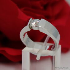 Diamonique Solitärring Spann Ring 925 Silber Cubik Zirkonia Gr.60 Ø19,1 mm Neuஜ