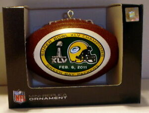 GREEN BAY PACKERS SUPER BOWL XLV 45 CHAMPS champions  CHRISTMAS ORNAMENT #2