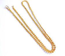 Oro Amarillo 18k lleno de 29 in (approx. 73.66 cm) Collar de cadena Curb Enlace Cadena de Joyería 68g U08