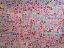5 metros de fiesta de celebración de vinilo Mantel & que cubre tela en color de rosa,