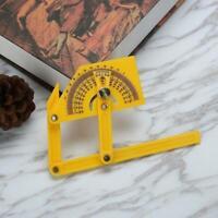 1x Goniometer Angle Finder Miter Gauge Arm Measure J3X9 Protr Plastic Ruler B9E0