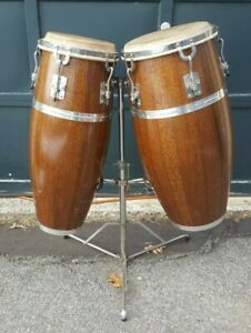 Gon Bop Mariano Conga drums percussion, two drums & stand WXT-3015 WXO-3015 NR