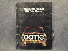 1982 ACME Automotive Finishes Color Manual Guide Chrysler Ford GM Chevrolet Jeep