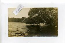 South Braintree MA Mass RPPC real photo Reservoir, antique postcard, 1908