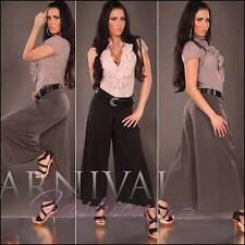 Wide Leg Viscose Dress Pants for Women