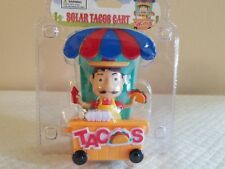 Solar Power Mexican Taco Cart Stand Dancing Bobble Head Toys New One Day Ship