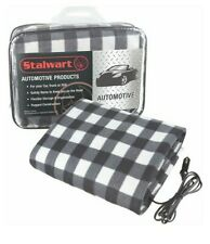 Electric Plaid Car Heated Blanket for Automobiles Heats up With 12 Volts black