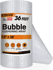 Jdgou Bubble Cushion Wrap Roll 12x36 Feet Bubble Cushion Wrap For Packing Bubbl