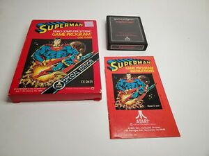 Superman Atari 2600 Special Edition Game CX2631 Complete - Box Game Manual