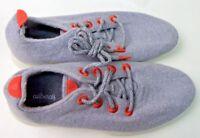 ALLBIRDS Womens Wool Runners Grey & Orange W/ White Sole, Size 7