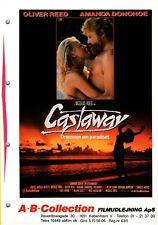 Castaway Oliver Reed Amanda Donohoe Georgina H 1986 Danish Movie Press Release