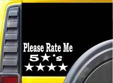 Please Rate Me 8 inch K916 vinyl store taxi driver decal sticker
