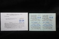 1964 New York Yankees Unused Full Ticket Presidents Box w/Yankee Club Pass RARE
