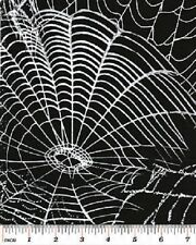 SPOOKTACULAR BLACK SPIDERWEBS WEBS HALLOWEEN FABRIC