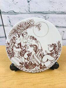 Bjorn Wiinblad Nymolle Danmark 3313 Round Ceramic Plaque Signed