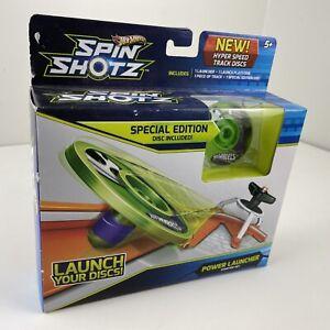 Hot Wheels Spin Shotz Special Edition Power Launcher Starter Kit - New