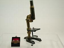 SEIBERT Wetzlar antique brass microscope Messing Mikroskop early + lenses /15K