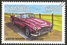 1963-1965 ASTON MARTIN DB5 Mint Automobile Sports Car Stamp (1998 Zambia)