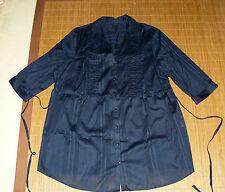 Gestreifte Lockre Sitzende Damenblusen,-Tops & -Shirts im Blusen-Stil mit V-Ausschnitt