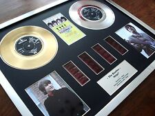"THE BEATLES - HELP! - 7"" GOLD PLATINUM DISC RECORD FILM CELL MONTAGE"