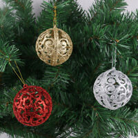6Pcs 6cm Christmas Xmas Tree Ball Bauble Hanging Home Party Ornament Decor
