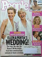ELLEN DEGENERES & PORTIA DE ROSSI WED! 2008 PEOPLE Magazine CHRISTINA APPLEGATE