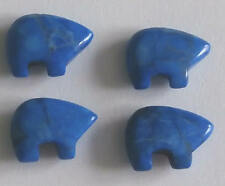4 Dark Blue Lapis Gemstone Zuni Bears - Native American Jewellery