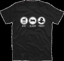 Eat Sleep tweet twitter follow follower t-shirt S-XXXL