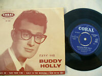BUDDY HOLLY EP RAVE ON Coral round FEP 2005 stunning near mint