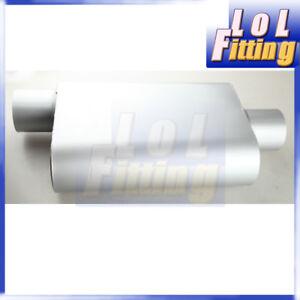 Center Offset 2.5 Inch Exhaust Oval Muffler Silencer