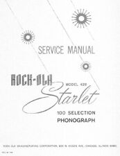 Rock-Ola Jukebox Model 429 Service Manual (61 pages) -sent as digital copy on Cd