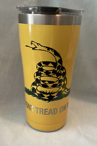 """Tervis 1261359 Gadsden Flag """" Dont Tread On Me"""" Stainless Steel Tumbler W/Lid"""