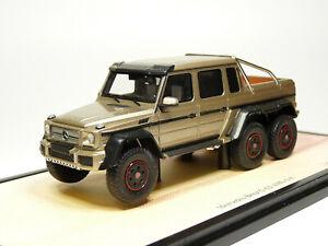 Spark B66961007 1/43 2013 Mercedes-Benz G63 AMG 6x6 Pickup Truck Resin Model Car