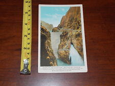 Rare Vintage Postcard Old Shoshone Irrigation Dam Buffalo Bill Country Yellowsto